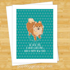 dog christmas cards pomeranian we wish you a hairy christmas