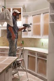 painting kitchen cabinets white sprayer modern interior design