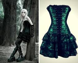 Gothic Corset Party Dress With Skirt 4 Colors U2013 Red Penguin