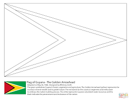 guyana flag coloring page free printable coloring pages