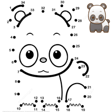 cute ba panda dot to dot free printable coloring pages with baby