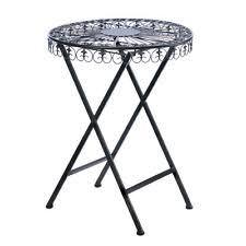 Cast Iron Bistro Table Small Patio Table Set 1 Chair Cast Iron Fleur De Lis