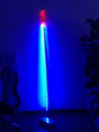 Led Whip Flags 6ft Blue Led Lighted Whips Single Color Led Safety Light Flag