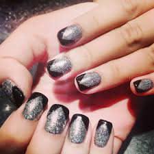 nails nail art with shellac gel color glitter design nails