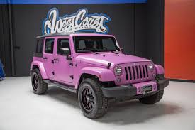 jeep vehicles 2015 photo 1 of 2015 hsv supercharged wrangler jeep jk in frozen matte pink
