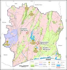 africa map ivory coast projects golden resources limited
