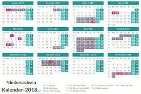 Ferienkalender 2018 Bw Ferien Niedersachsen 2018 Ferienkalender übersicht