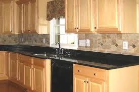 Unique Black Granite Countertops With Tile Backsplash Kitchen - Backsplash for black granite