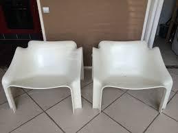vintage siege 2 fauteuils paulin siege 304 fauteuil plastique jardin