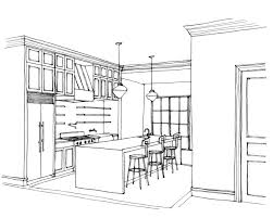interesting interior design kitchen drawings to decor