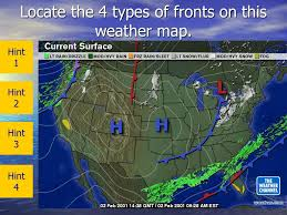 weather fronts map page weather fronts science 8th grade ppt