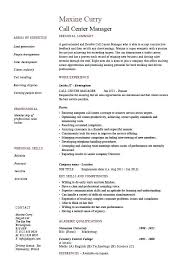 sample call center manager resume call center manager resume job