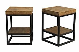 round wood and metal side table modern style wood side table with round wooden high side table