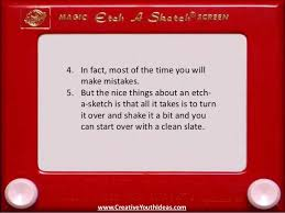 christian object lesson etch a sketch