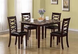 5 Piece Dining Sets Monarch Dark Cherry Marble Veneer 5 Piece Dining Set Fss