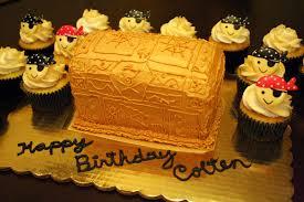 noodlebug cakes treasure chest cake u0026 pirate cupcakes