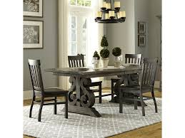 Transitional Dining Room Sets Magnussen Home Bellamy Transitional Five Piece Weathered Gray
