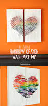 How To Get Crayon Off The Wall by Faux Stone Rainbow Crayon Wall Art Diy Club Chica Circle Where
