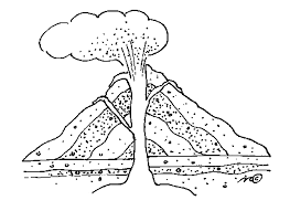 12 kids coloring pages volcano print color craft