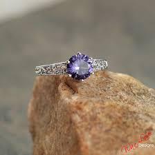chagne diamond engagement ring alexandrite color change sapphire diamond engagement ring filigree