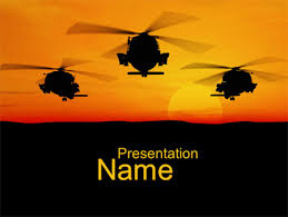 helicopters at sunset powerpoint template backgrounds 10662