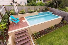 backyard small above ground swimming pool eye catching and