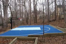 Backyard Basketball Half Court Basketball Court Neave Sports