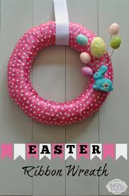 ribbon wreaths easter ribbon wreath my suburban kitchen