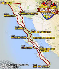 Baja Map Desert Rally Port Angeles Duo Is Baja California Dreaming