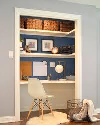 Closet Office Desk Add A Home Office To A Spare Closet Closet Desk Desks And