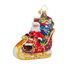 decorating sleigh santa dashing delivery by christopher radko for