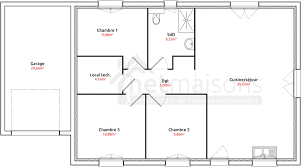 plan maison 3 chambres plain pied garage plan maison 3 chambres chambre avec plan maison pas cher plain pied