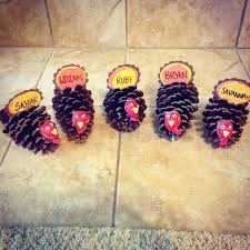 10 step diy pinecone turkey place holders for your thanksgiving