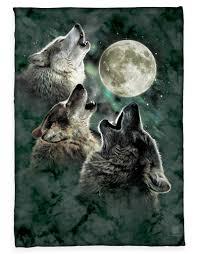 three wolf moon fleece blanket three wolf moon and wolf
