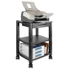 printer cart printer stand tall stand with cabinet and wheels