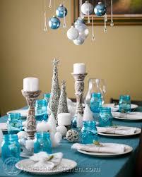 Blue Table Menu A Fancy Christmas Party Menu Decor U0026 More