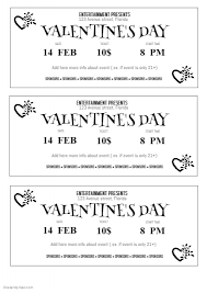 free valentine u0027s day ticket template postermywall