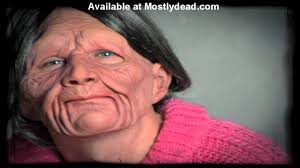 old man mask for halloween zagone studios old man and old woman youtube