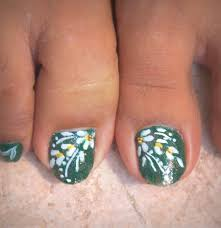 hawaiian flower toe nail art nail toenail designs art