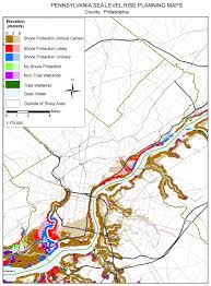 Map Pennsylvania by Sea Level Rise Planning Maps Likelihood Of Shore Protection In