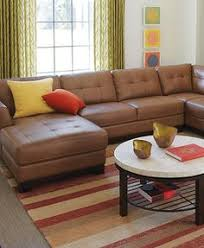 Leather Sectional Couch With Chaise Martino Leather 3 Piece Chaise Sectional Sofa Macys Com Home