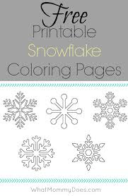 free printable snowflake coloring pages color sheets activities
