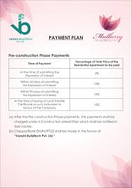 mulberry payment plan call 8130530449 l zone dwarka