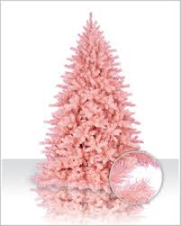 pink flocked spruce tree flocked spruce pink