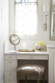 Makeup Vanity Bathroom Drop Down Makeup Vanity Traditional Bathroom L Kae Interiors