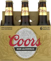 alcoholic drinks bottles coors non alcoholic malt beverage 6 pack 12 fl oz walmart com