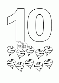 number 10 coloring pages for kids counting sheets printables free