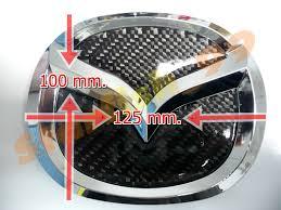 mazda emblem real carbon fiber insert u0026 emblem mazda2 04 11 mazda3 mazdaspeed3