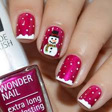 31 cute winter inspired nail art designs red nails snowman and