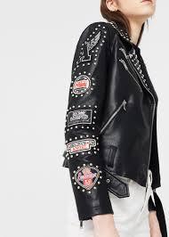 biker jacket studded biker jacket women mango usa